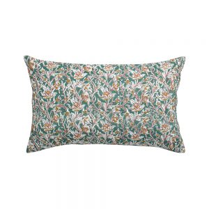 cuscino rettangolare a fiori rosaline verde