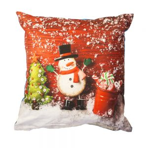 cuscino natalizio eve di bassetti con pupazzo di neve