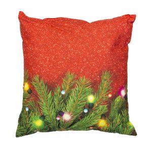 cuscino natalizio xmas light di bassetti con albero di natale