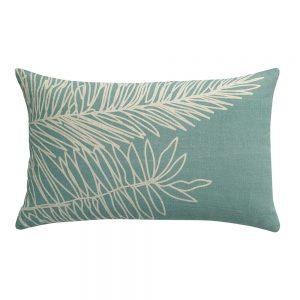 cuscino arredo stampa palma zeff palm di vivaraise colore verdino