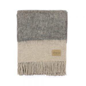 plaid johannesbourg grigio chiaro e scuro somma misto alpaca