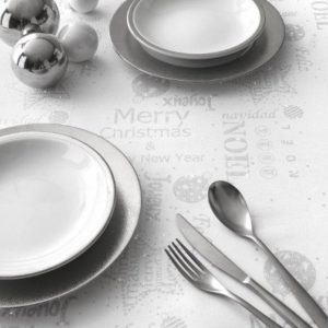 tovaglia natalizia con scritte buon natale e merry christmas vallesusa casa