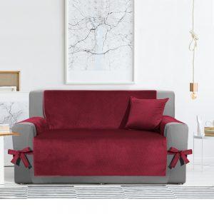 copridivano in velluto rosso cardinale velvet di Scudo via Roma 60