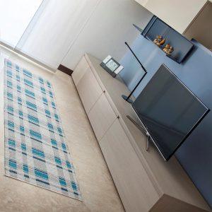 tappeto swedy linea duke azzurro col 3 soggiorno