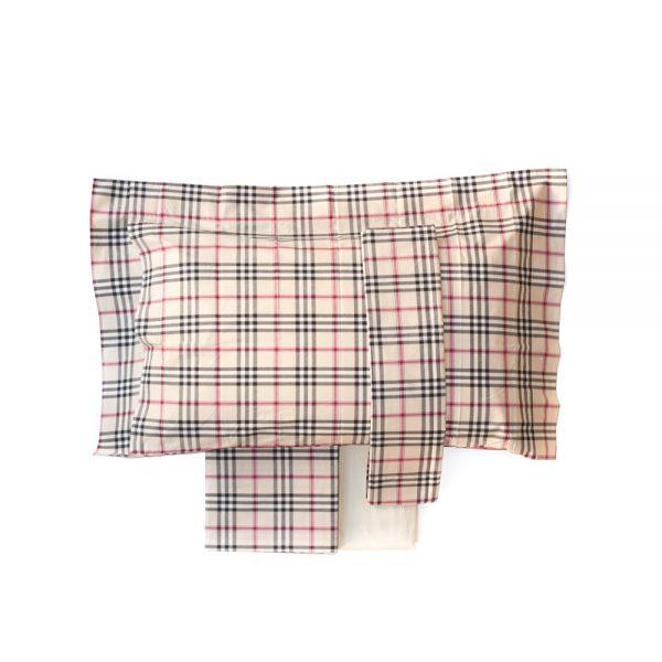 completo lenzuola disegno burberry linea Clan di Tessitura Randi