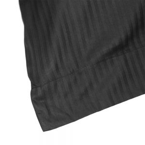 dettaglio lenzuola matrimoniali in raso nero linea Anemone