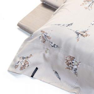 dettaglio completo lenzuola matrimoniale in raso code zucchi collection