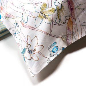 dettaglio completo lenzuola audry zucchi a fiori