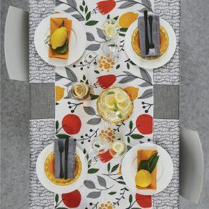 runner tavola limoni e tulipani di maison sucree
