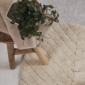 tappeto foglia maison sucrée burro dettaglio