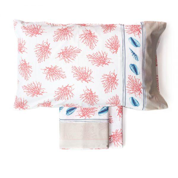 lenzuola con coralli ocean di maè