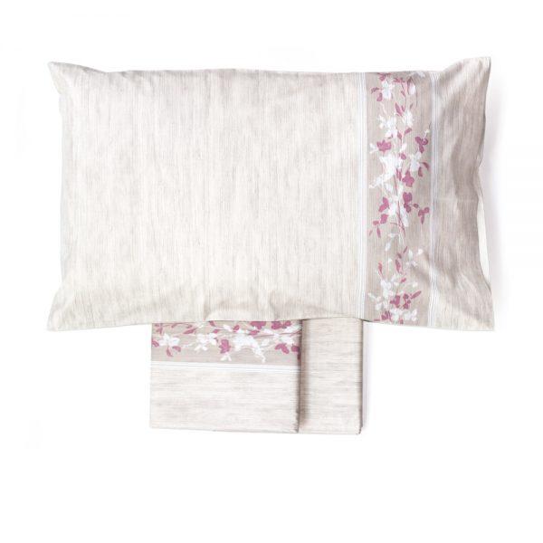 completo lenzuola matrimoniali canapa di maè