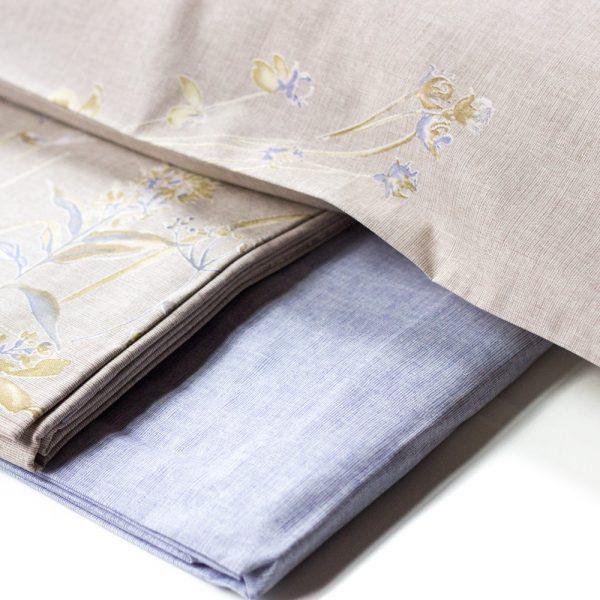 dettaglio completo lenzuola grecale matrimoniale zucchi