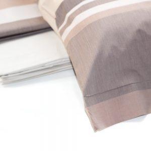 dettaglio completo lenzuola clan in percalle tinto filo