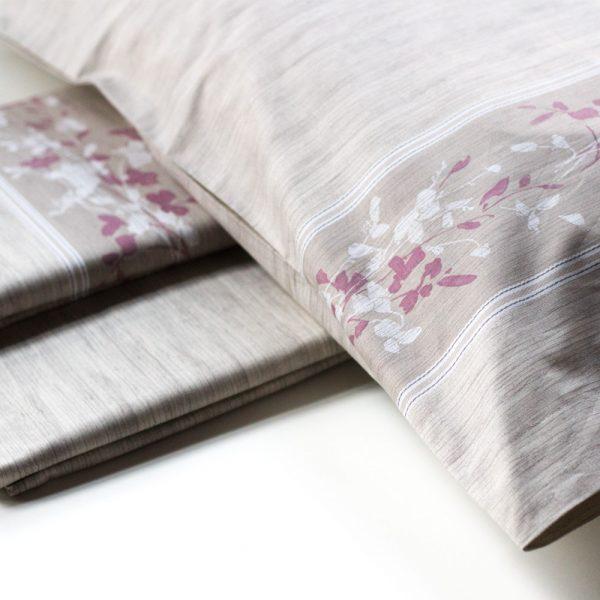 dettaglio completo lenzuola matrimoniali canapa di maè