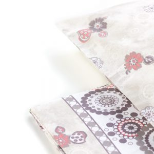 dettaglio delle lenzuola Goa con mandala di Maè