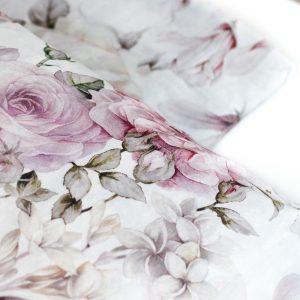 dettaglio rose del lenzuolo Rosa Regina di Tessitura Randi