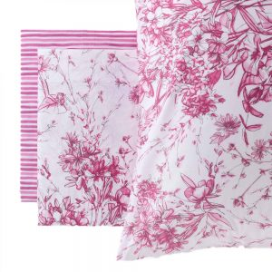 lenzuola matrimoniale aster riviera a fiori rosa