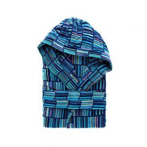accappatoio moderno blu e multicolor Strett di Riviera