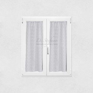 coppia tendine a vetro con ajour grigio