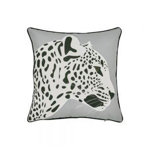 cuscino arredo leopardo grigio minimal di Maison Sucrée