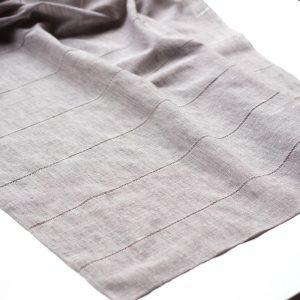 dettaglio coppia tendine a vetro con ajour grigio
