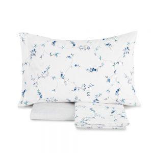 completo lenzuola matrimoniali grace di zucchi a fiori blu