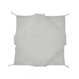 cuscino per sedia da cucina con ali in misto lino naturaleza