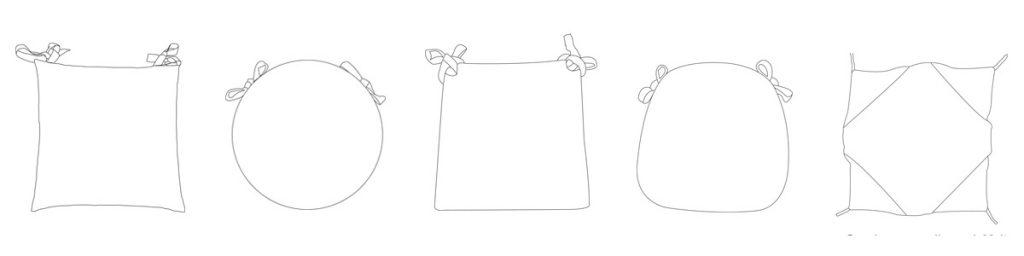 modelli cuscini per sedie da cucina