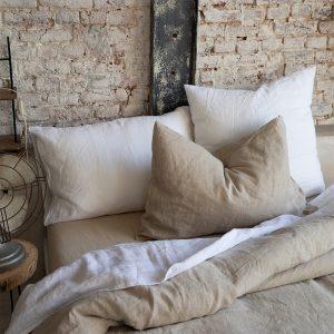 lenzuola in lino zeff vivaraise bianche e beige