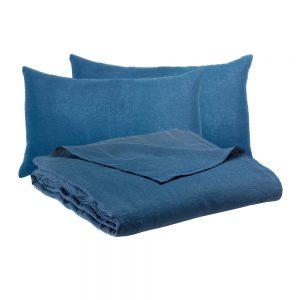 lenzuola in lino zeff vivaraise blu