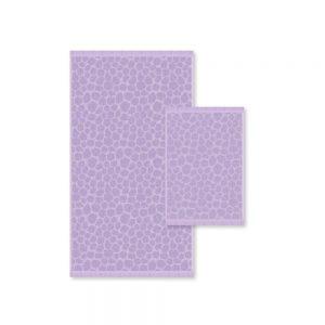 asciugamano athens color lilla di zucchi