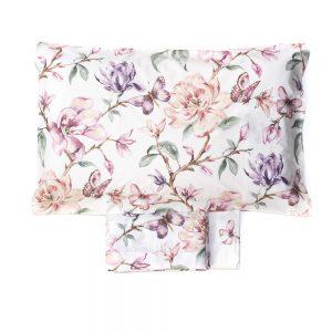 completo lenzuola con fiori e farfalle della collezione Holland di Maè
