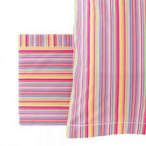 completo letto rainbow di riviera in rosa multicolor