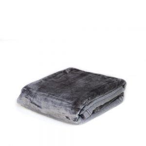 plaid in pile flannel di vallesusa tinta unita grigio