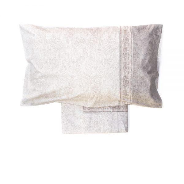 completo lenzuola in stile classico tortora Afrodite di Maè