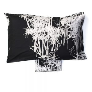 copripiumino mystic bamboo diesel bianco e nero