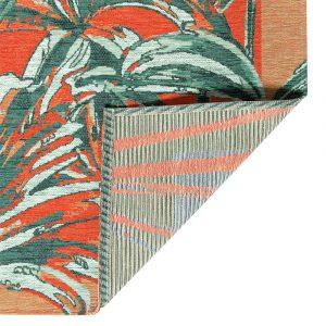 dettaglio retro tappeto Silvia di Vivaraise in stile urban jungle verde