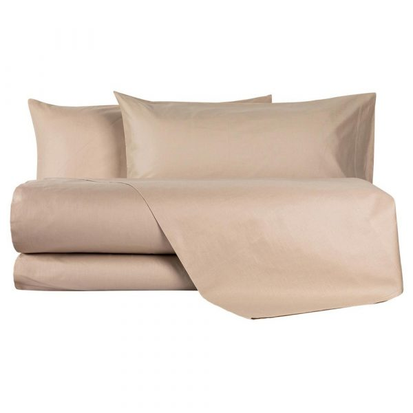 completo lenzuola per letto alla francese tortora