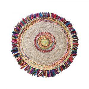 tappeto rotondo con frange multicolor Ballas di Vivaraise