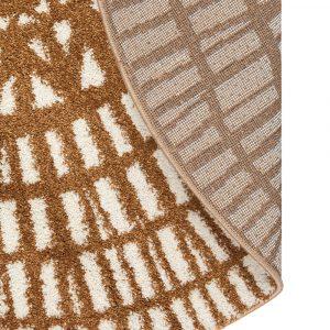 tappeto rotondo bronzo moderno Noa di Vivaraise dettaglio