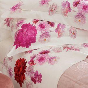 Lenzuol Fabienne di Blumarine Home con disegno floreale in 3 varianti di colore