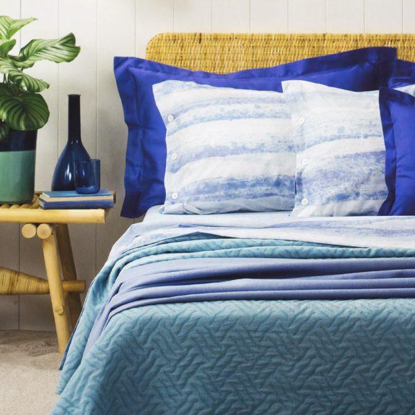 completo lenzuola Orea azzurro di Zucchi