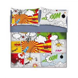 lenzuola copriletto una piazza fumetti Spin Art di Maè