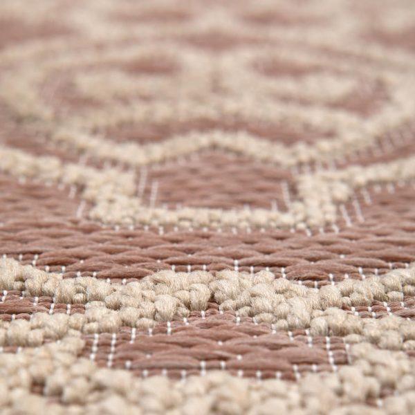 dettaglio tappeto da esterno rotondo beige adi di vivaraise cipria