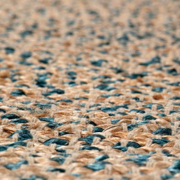 zoom tappeto Elliot di Vivaraise ottanio e juta