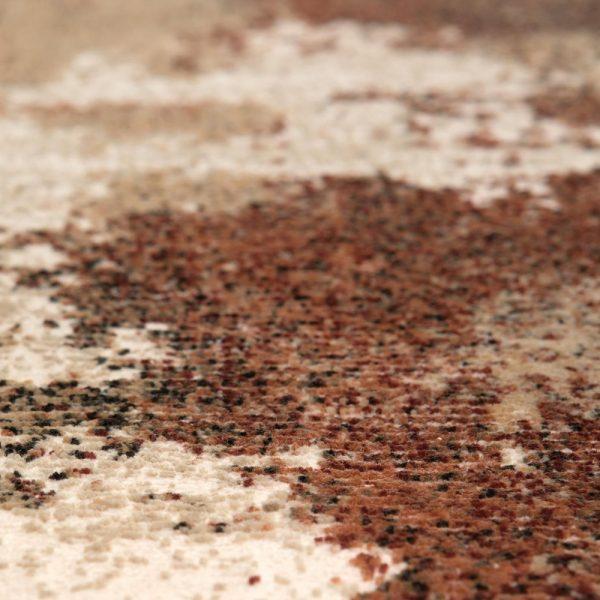 dettaglio tappeto kerma di vivaraise effetto ruggine