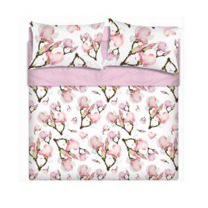 lenzuola copriletto May di Maè con stampa floreale digitale