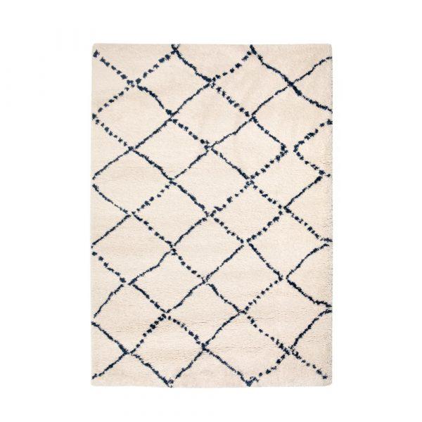 tappeto berbero con disegno blu Casablanca di Vivaraise
