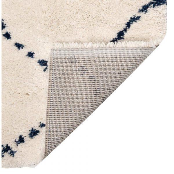 retro tappeto berbero con disegno blu Casablanca di Vivaraise